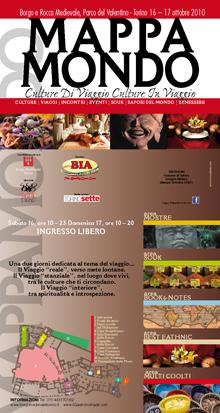 Mappamondo: culture in viaggio, culture di viaggio. Locandina con il programma dell'evento.